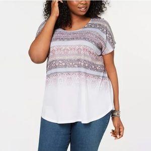 Style & Co Plus Size Short-Sleeve Dolman T-Shirt